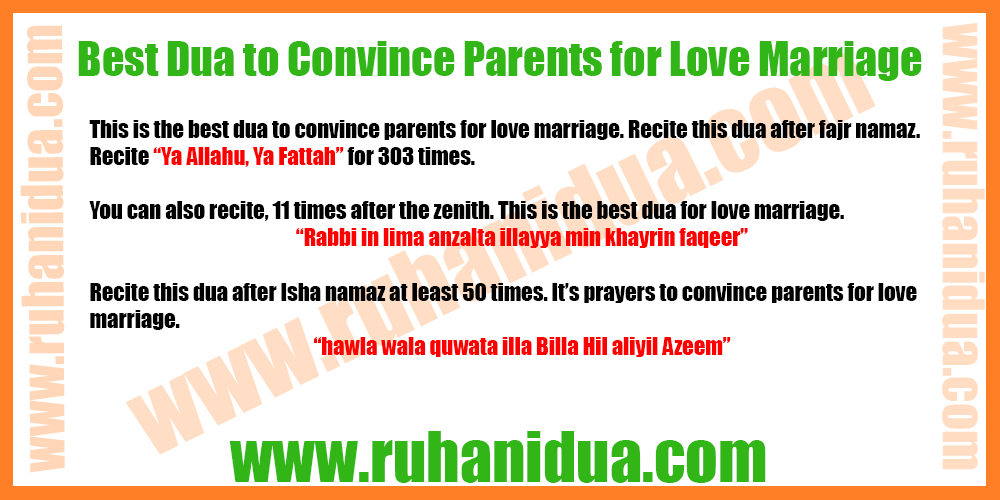 Best Dua to Convince Parents for Love Marriage