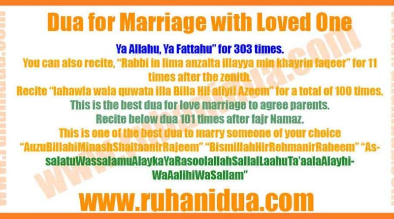 Best Powerful Dua for Marriage with Loved One