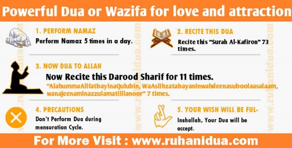 Dua or Wazifa for love and attraction