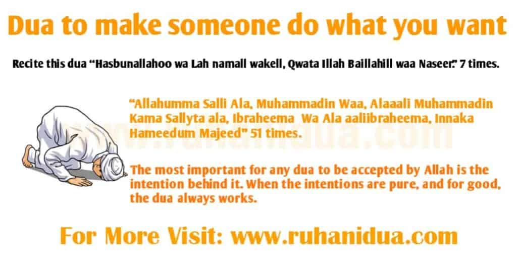 Powerful Dua to make someone do what you want