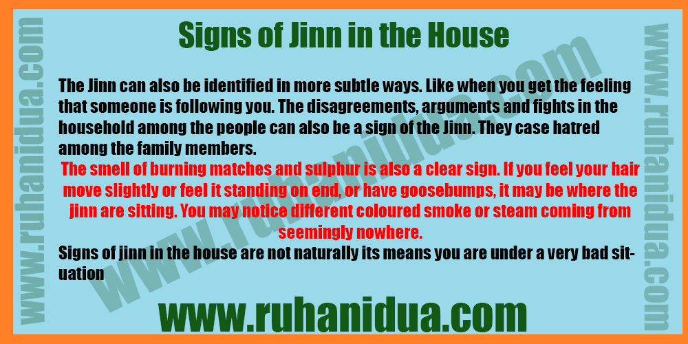 Signs of Jinn in the House