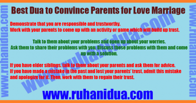 Best powerful Dua to Convince Parents for Love Marriage