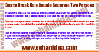 best Dua to Break Up a Couple Separate Two Persons