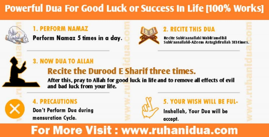 Powerful Dua For Good Luck or Success In Life