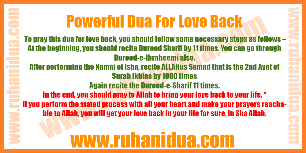 Powerful Dua For Love Back - 100% Working