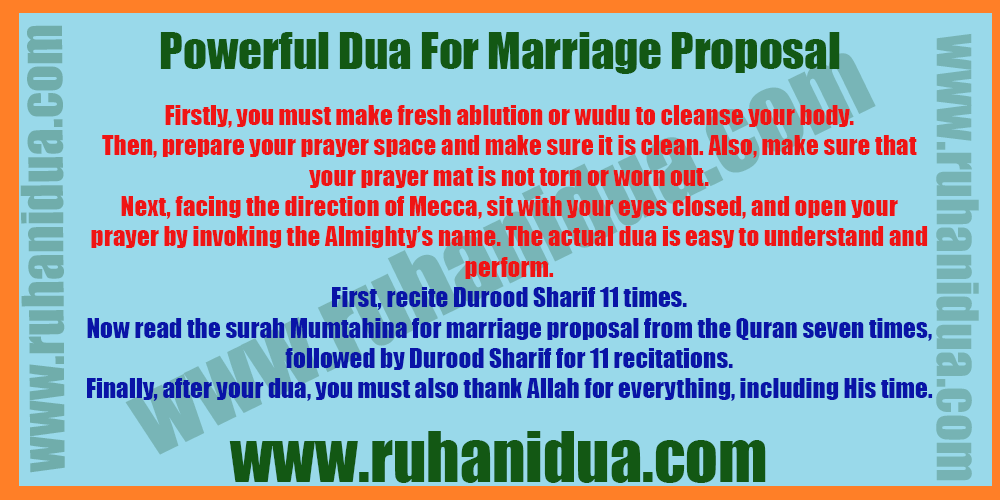 Powerful Dua For Marriage Proposal - 100% Effective Dua