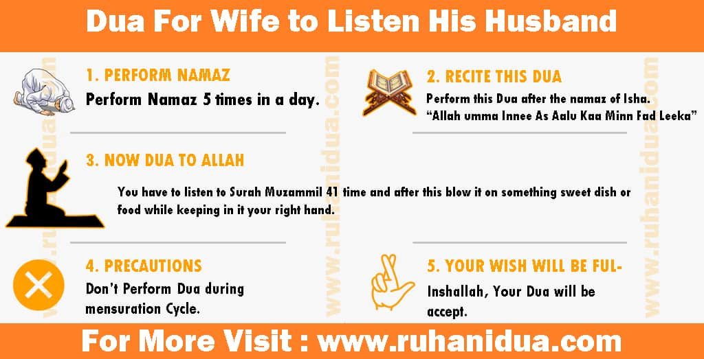 Powerful Dua For Wife to Listen His Husband