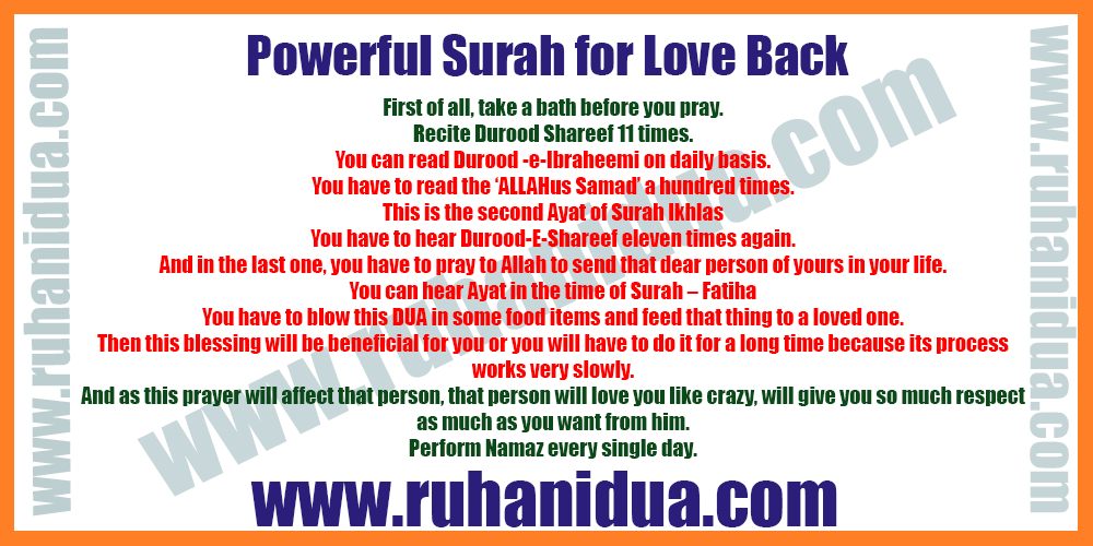 Powerful Surah for Love Back
