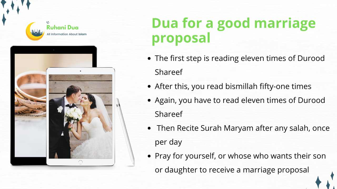 Dua for a good marriage proposal
