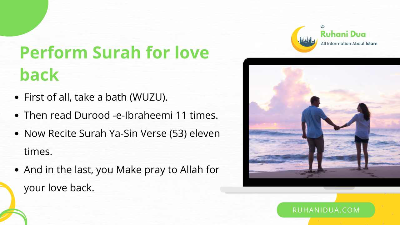 Follow these Steps to Perform Surah for love back