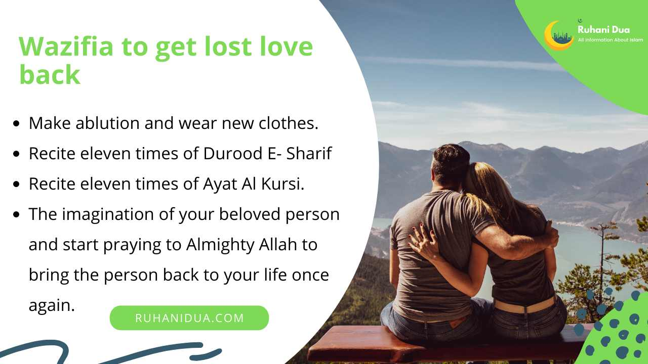 Wazifia to get lost love back