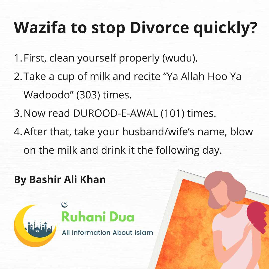 Wazifa to stop Divorce quickly?